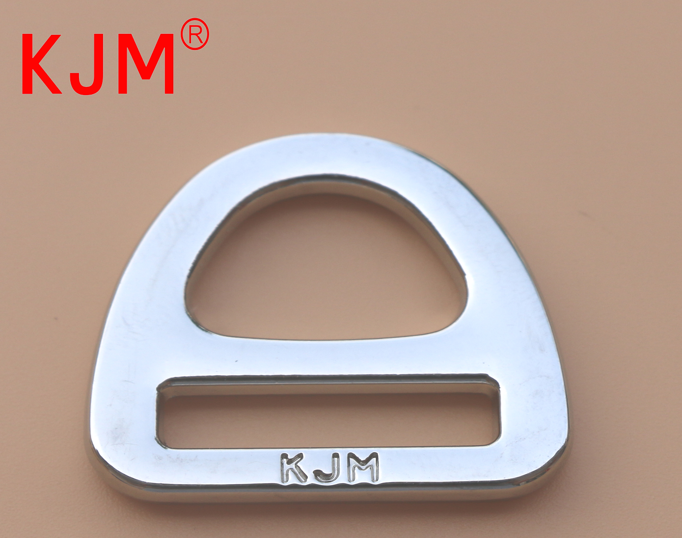 Flat Metal D-ring Buckle for Backpack
